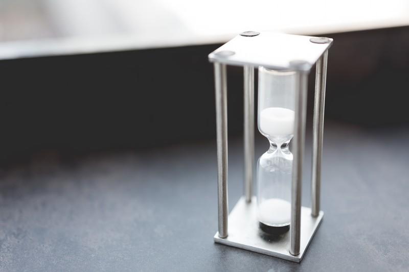 放置時間、時間、砂時計